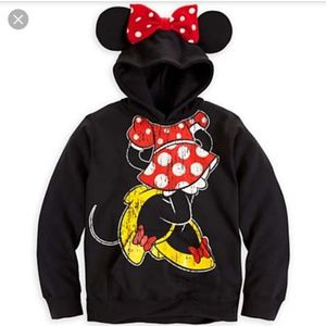 Minnie Mouse Sweatshirt with hoodie and bow